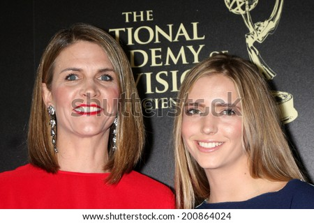 LOS ANGELES - JUN 22:  Colleen Bell, daughter at the 2014 Daytime Emmy Awards Arrivals at the Beverly Hilton Hotel on June 22, 2014 in Beverly Hills, CA - stock photo