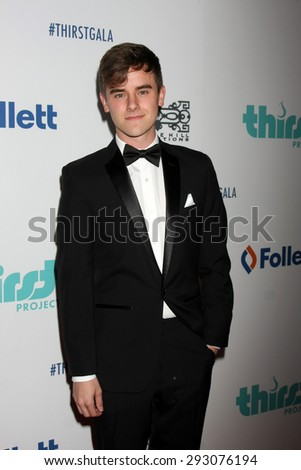 LOS ANGELES - JUN 30:  Connor Franta at the 6th Annual Thirst Gala at the Beverly Hilton Hotel on June 30, 2015 in Beverly Hills, CA - stock photo