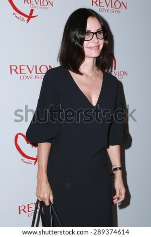 LOS ANGELES - JUN 3:  Courteney Cox at the Halle Berry And Revlon Celebrate Achievements In Cancer Research at the Four Seasons Hotel on June 3, 2015 in Los Angeles, CA - stock photo