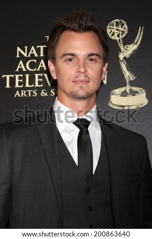 LOS ANGELES - JUN 22:  Darin Brooks at the 2014 Daytime Emmy Awards Arrivals at the Beverly Hilton Hotel on June 22, 2014 in Beverly Hills, CA - stock photo