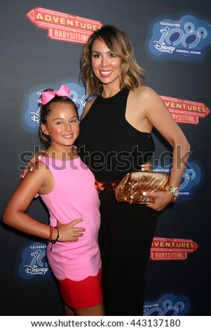 LOS ANGELES - JUN 23:  Daughter, Kelly Dodd at the 100th DCOM Adventures In Babysitting LA Premiere Screening at the Directors Guild of America on June 23, 2016 in Los Angeles, CA - stock photo