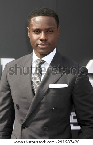"LOS ANGELES - JUN 28:  Dayo Okeniyi at the ""Terminator Genisys"" Los Angeles Premiere at the Dolby Theater on June 28, 2015 in Los Angeles, CA - stock photo"