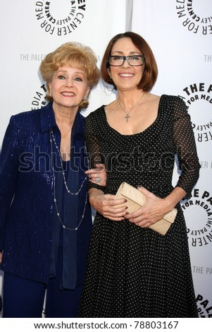 LOS ANGELES - JUN 7:  Debbie Reynolds, Patricia Heaton arrive at the Debbie Reynolds Collection Auction Preview at Paley Center For Media on June 7, 2011 in Beverly Hills, CA
