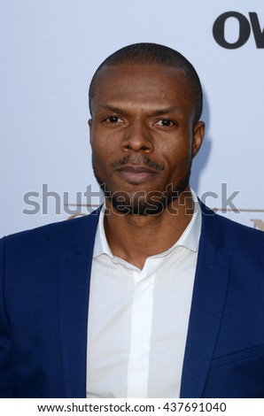 LOS ANGELES - JUN 15:  Deji LaRay at the Greenleaf OWN Series Premiere at the The Lot on June 15, 2016 in West Hollywood, CA - stock photo