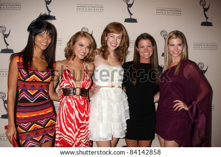 LOS ANGELES - JUN 16: Denise Vasi, Chrishell Stause, Brittany Allen, Melissa Claire Egan, Stephanie Gatschet - Academy of Television Daytime Emmy Nominee Reception on June 16, 2011 in Beverly Hills,CA - stock photo