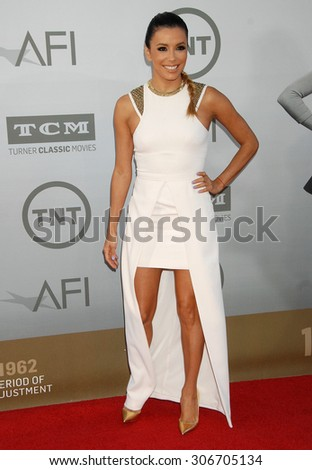 LOS ANGELES - JUN 5:  Eva Longoria arrives at the AFI TRIBUTE TO JANE FONDA   on June 5, 2014 in Hollywood, CA                 - stock photo