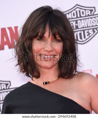 "LOS ANGELES - JUN 29:  Evangeline Lilly arrives to the ""Ant-Man"" World Premiere  on June 29, 2015 in Hollywood, CA                 - stock photo"