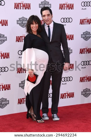"""LOS ANGELES - JUN 29:  Evangeline Lilly & David Dastmalchian arrives to the """"Ant-Man"""" World Premiere  on June 29, 2015 in Hollywood, CA                 - stock photo"""