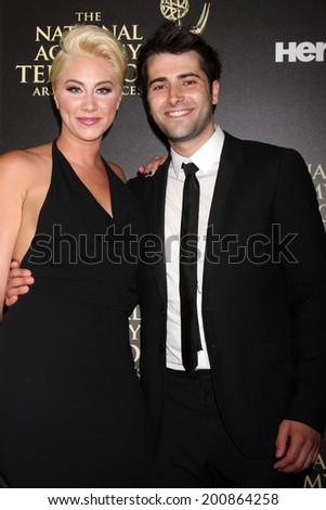 LOS ANGELES - JUN 22:  Freddie Smith at the 2014 Daytime Emmy Awards Arrivals at the Beverly Hilton Hotel on June 22, 2014 in Beverly Hills, CA - stock photo