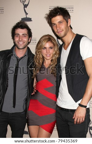 LOS ANGELES - JUN 16:  Freddie Smith, Kate Mansi, Casey Jon Deidrick arrive at the ATAS Daytime Emmy Nominee Reception at SLS Hotel at Beverly Hills on June 16, 2011 in Beverly Hills, CA - stock photo
