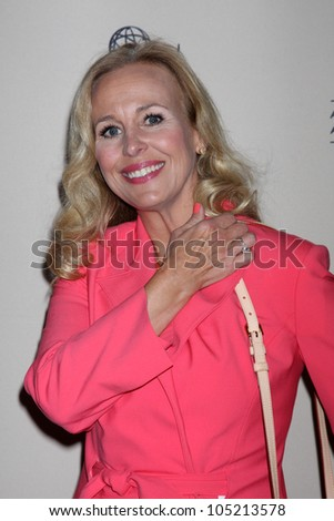 LOS ANGELES - JUN 14:  Genie Francis arrives at the ATAS Daytime Emmy Awards Nominees Reception at SLS Hotel At Beverly Hills on June 14, 2012 in Los Angeles, CA