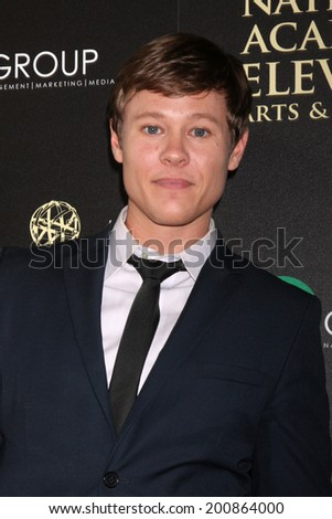 LOS ANGELES - JUN 22:  Guy WIlson at the 2014 Daytime Emmy Awards Arrivals at the Beverly Hilton Hotel on June 22, 2014 in Beverly Hills, CA - stock photo