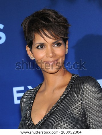 LOS ANGELES - JUN 06:  Halle Berry arrives to the 'Extant' Premiere Party  on June 06, 2014 in Los Angeles, CA                 - stock photo