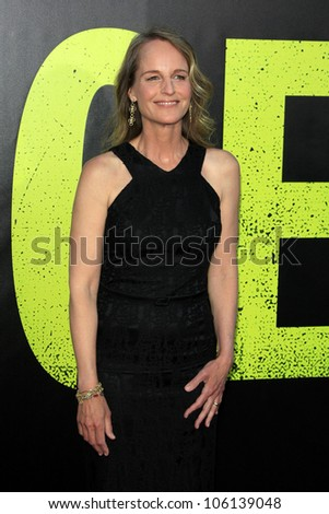 "LOS ANGELES - JUN 25:  Helen Hunt arrives at the ""Savages"" Premiere at Village Theater on June 25, 2012 in Westwood, CA"