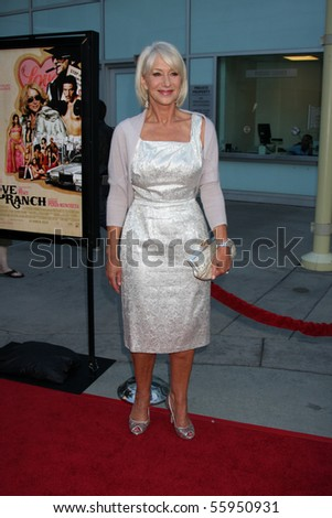 "LOS ANGELES - JUN 23: Helen Mirren arrives at the ""Love Ranch"" LA Premiere ArcLight Hollywood in Los Angeles, CA June 23, 2010"