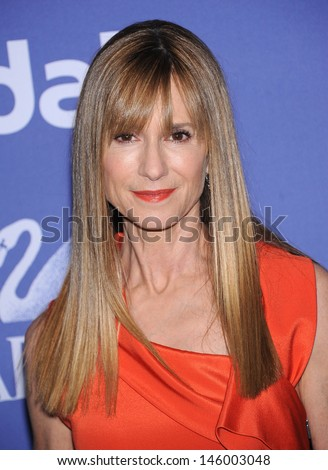 LOS ANGELES - JUN 12:  Holly Hunter arrives to the Women In Film's 2013 Crystal + Lucy Awards  on June 12,2013 in Beverly Hills, CA                 - stock photo