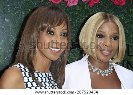 LOS ANGELES - JUN 13: Holly Robinson Peete, Mary J Blige at the  LadyLike Foundation 7th Annual Women Of Excellence Scholarship Luncheon at Luxe Hotel on June 13, 2015 in Los Angeles, California. - stock photo