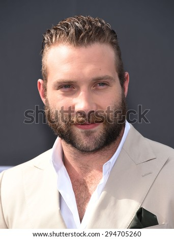 "LOS ANGELES - JUN 28:  Jai Courtney arrives to the ""Terminator Genisys"" Los Angeles Premiere  on June 28, 2015 in Hollywood, CA                 - stock photo"