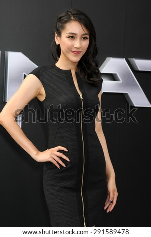 "LOS ANGELES - JUN 28:  Jane Wu at the ""Terminator Genisys"" Los Angeles Premiere at the Dolby Theater on June 28, 2015 in Los Angeles, CA - stock photo"