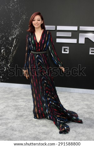 """LOS ANGELES - JUN 28:  Jane Zhang at the """"Terminator Genisys"""" Los Angeles Premiere at the Dolby Theater on June 28, 2015 in Los Angeles, CA - stock photo"""