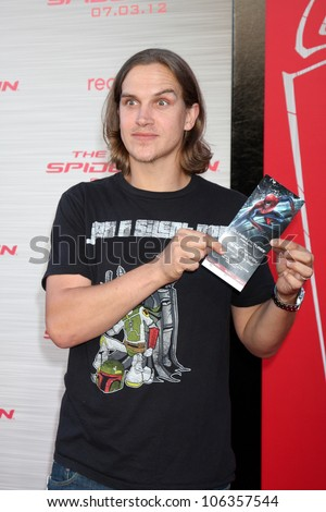 "LOS ANGELES - JUN 28:  Jason Mewes arrives at the ""The Amazing Spider-Man"" Premiere at Village Theater on June 28, 2012 in Westwood, CA - stock photo"