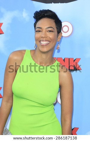 """LOS ANGELES - JUN 8:  Jazmyn Simon at the HBO's """"The Brink"""" Premiere at the Paramount Studios on June 8, 2015 in Los Angeles, CA - stock photo"""