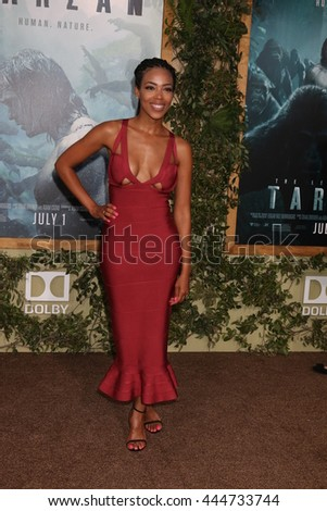 LOS ANGELES - JUN 27:  Jazmyn Simon at The Legend Of Tarzan Premiere at the Dolby Theater on June 27, 2016 in Los Angeles, CA - stock photo