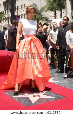 LOS ANGELES - JUN 20:  Jennifer Lopez at the Hollywood Walk of Fame star ceremony for Jennifer Lopez at the W Hollywood Hotel on June 20, 2013 in Los Angeles, CA - stock photo