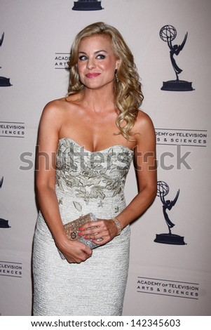 LOS ANGELES - JUN 13:  Jessica Collins arrives at the Daytime Emmy Nominees Reception presented by ATAS at the Montage Beverly Hills on June 13, 2013 in Beverly Hills, CA