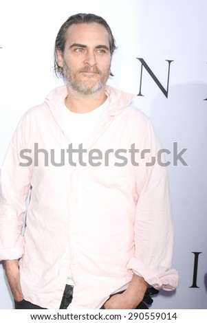 """LOS ANGELES - JUN 24:  Joaquin Phoenix at the """"Unity"""" Documentary World Premeire at the Director's Guild of America on June 24, 2015 in Los Angeles, CA - stock photo"""