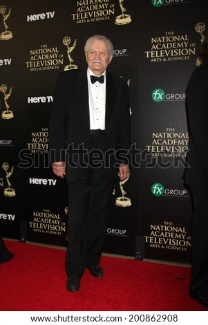 LOS ANGELES - JUN 22:  John Aniston at the 2014 Daytime Emmy Awards Arrivals at the Beverly Hilton Hotel on June 22, 2014 in Beverly Hills, CA - stock photo