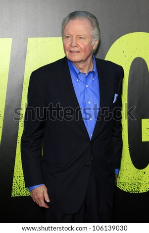 "LOS ANGELES - JUN 25:  Jon Voight arrives at the ""Savages"" Premiere at Village Theater on June 25, 2012 in Westwood, CA"