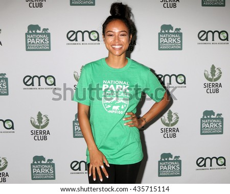 LOS ANGELES - JUN 11:  Karrueche Tran at the Give Back Day to Celebrate National Park Service Centennial at the Franklin Canyon Park on June 11, 2016 in Beverly Hills, CA - stock photo