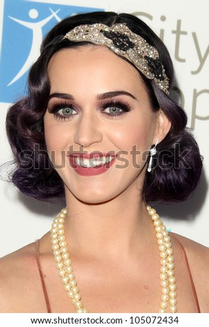 LOS ANGELES - JUN 12:  Katy Perry arrives at the City of Hope's Music And Entertainment Industry Group Honors Bob Pittman Event at The Geffen Contemporary at MOCA on June 12, 2012 in Los Angeles, CA - stock photo