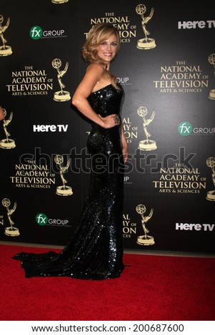 LOS ANGELES - JUN 22:  Kelly Sullivan at the 2014 Daytime Emmy Awards Arrivals at the Beverly Hilton Hotel on June 22, 2014 in Beverly Hills, CA - stock photo