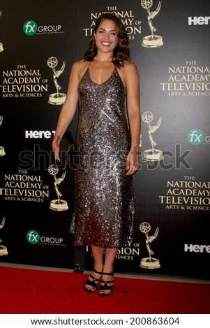 LOS ANGELES - JUN 22:  Kelly Thiebaud at the 2014 Daytime Emmy Awards Arrivals at the Beverly Hilton Hotel on June 22, 2014 in Beverly Hills, CA - stock photo