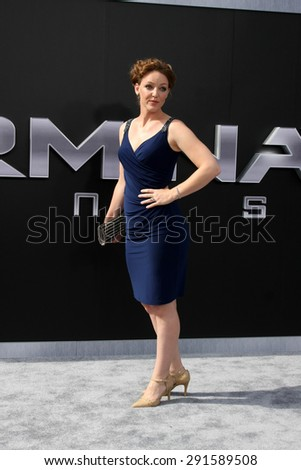 "LOS ANGELES - JUN 28:  Kerry Cahill at the ""Terminator Genisys"" Los Angeles Premiere at the Dolby Theater on June 28, 2015 in Los Angeles, CA - stock photo"