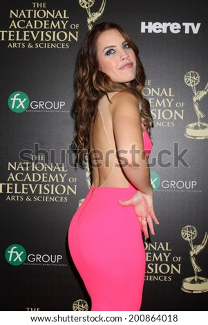 LOS ANGELES - JUN 22:  Kristen Alderson at the 2014 Daytime Emmy Awards Arrivals at the Beverly Hilton Hotel on June 22, 2014 in Beverly Hills, CA - stock photo