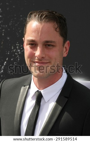 "LOS ANGELES - JUN 28:  Kyle Clements at the ""Terminator Genisys"" Los Angeles Premiere at the Dolby Theater on June 28, 2015 in Los Angeles, CA - stock photo"