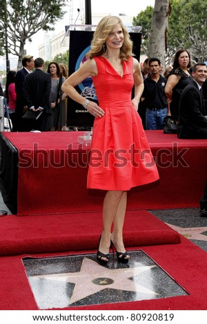 LOS ANGELES - JUN 8: Kyra Sedgwick at a ceremony as Kyra Sedgwick receives a star on the Hollywood Walk of Fame, Los Angeles, California on June 8, 2009 - stock photo