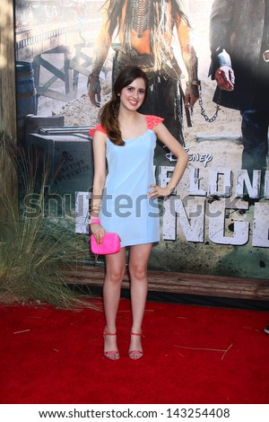 "LOS ANGELES - JUN 22:  Laura Marano  at the World Premiere of ""The Lone Ranger"" at the Disney's California Adventure on June 22, 2013 in Anaheim, CA"