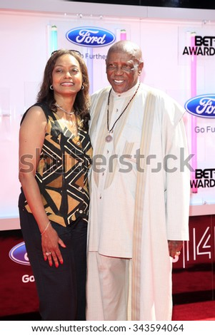 LOS ANGELES - JUN 29:  Lou Gossett, Jr. at the 2014 BET Awards - Arrivals at the Nokia Theater at LA Live on June 29, 2014 in Los Angeles, CA - stock photo