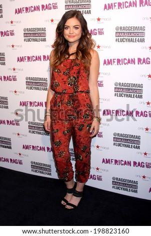 LOS ANGELES - JUN 14:  Lucy Hale at the in store appearance and performance for American Rag at Macy's on June 14, 2014 in Sherman Oaks, CA - stock photo