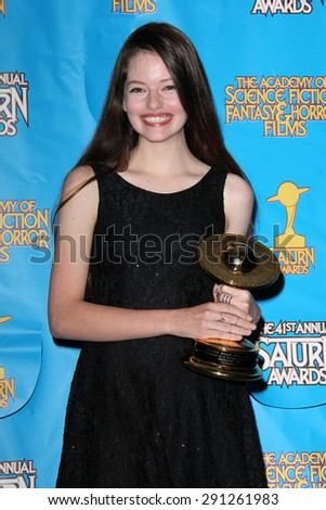 LOS ANGELES - JUN 25:  Mackenzie Foy at the 41st Annual Saturn Awards Press Room at the The Castaways on June 25, 2015 in Burbank, CA
