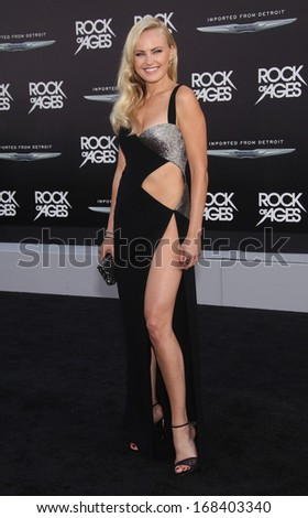 """LOS ANGELES - JUN 08:  MALIN AKERMAN arrives to the """"Rock of Ages"""" World Premiere  on June 08, 2012 in Hollywood, CA                 - stock photo"""