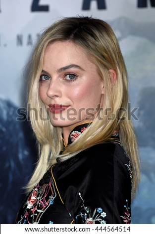 LOS ANGELES - JUN:  Margot Robbie arrives to The Legend Of Tarzan World Premiere  on June 27, 2016 in Hollywood, CA                 - stock photo