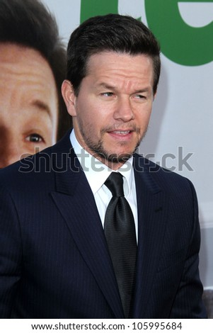 "LOS ANGELES - JUN 21:  Mark Wahlberg arrives at the ""Ted"" Premiere at Village Theater on June 21, 2012 in Westwood, CA - stock photo"