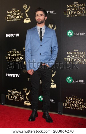LOS ANGELES - JUN 22:  Max Erlich at the 2014 Daytime Emmy Awards Arrivals at the Beverly Hilton Hotel on June 22, 2014 in Beverly Hills, CA - stock photo