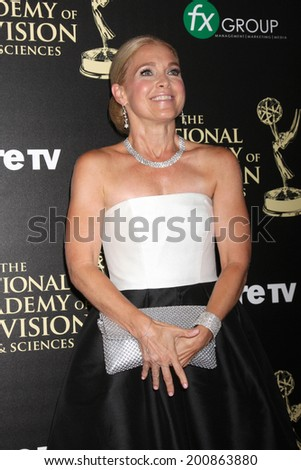 LOS ANGELES - JUN 22:  Melissa Reeves at the 2014 Daytime Emmy Awards Arrivals at the Beverly Hilton Hotel on June 22, 2014 in Beverly Hills, CA - stock photo