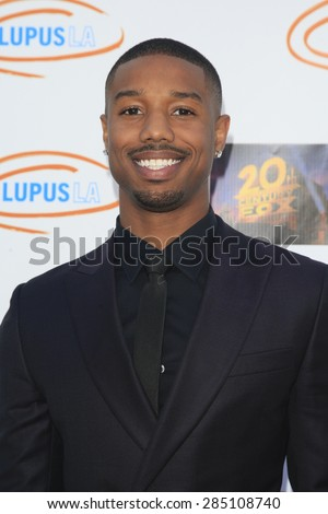 LOS ANGELES - JUN 6: Michael B Jordan at the Lupus LA Orange Ball And A Night Of Superheroes at the Fox Studio lot on June 6, 2015 in Los Angeles, California - stock photo